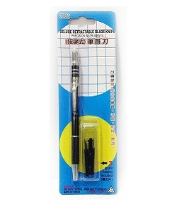 C-616CS 按鍵式(銅+鋁合金 刀體) 筆刀 | 雕刻刀 (附補充刀片3pcs)