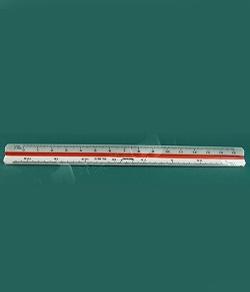 三棱尺 | 三角比例尺 | 製圖比例尺 15cm長 (附簡易保護套)