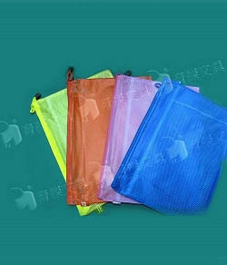 No.663 拉鍊網狀袋 / 防水網狀袋-雙層 A4