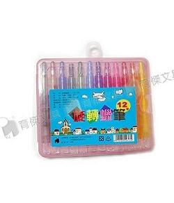 YJ-7361(短) 彩色旋轉蠟筆12色 (塑膠盒裝)