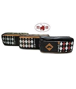 樂伊LE-3746A 菱格鬍子筆袋(尼龍) | 帆布筆袋