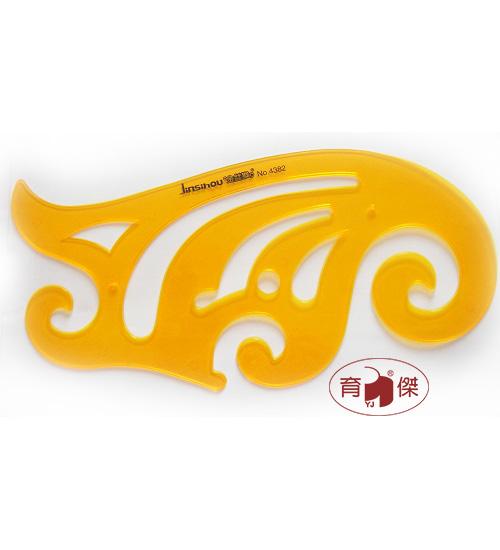 金絲猴 No.4382 雲形模板30cm | 曲線模板