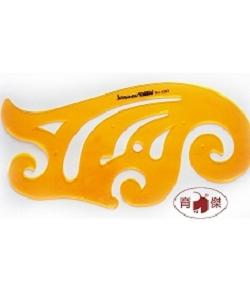 金絲猴 No.4383 雲形模板35cm | 曲線模板