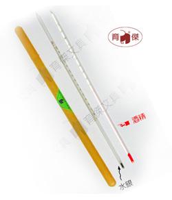 YJ 酒精溫度計 100℃ | 溫度棒