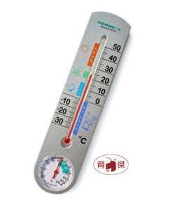 三木No.6530 室內外 溫濕度計 立式